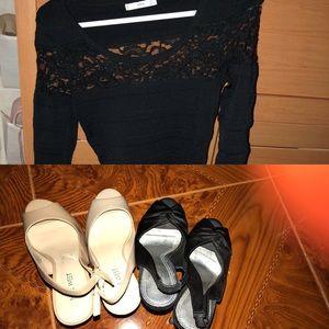 Mayor sale, 2 heels and one dress, BeBe, Nine West